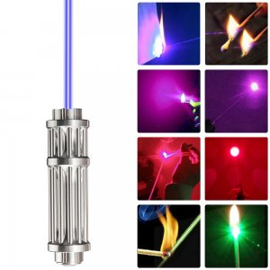 Gideon Burning Laser Pointer - High Powered Blue/Violet/Red/Green Laser