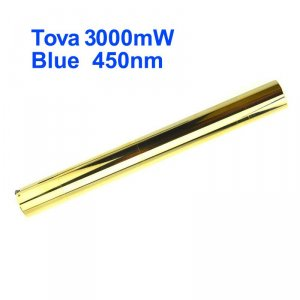 Tova 3W Burning Laser Pointer - Class 4 3000mW 450nm Blue High Powered Laser