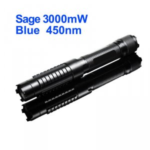 Sage 3W Blue Burning Laser - Class 4 3000mW 450nm High Powered Laser Pointer
